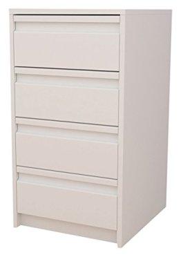 Meka-Block K-7400B - Schubladenschrank-Kit, 4 Schubladen, 40 cm breit, Farbe: weiß. -