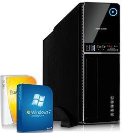 Mini PC Office / Multimedia mit 3 Jahren Garantie inkl. Windows 7 Professional 64-Bit! - Quad-Core Intel Core i5-4460 4x3,4GHz Turbo - 8GB DDR3 RAM - 1TB HDD - Intel 4600 mit 1,7 GB HyperMemory - 24-fach DVD Brenner - USB 3.0 (i5-4460 8GB 1TB Win 7) -