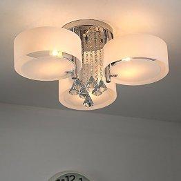 Natsen® LED Kristall Deckenleuchte Deckenlampe Designer Wohnzimmer Lampe 3-flammig LED E27 Ø60cm -
