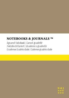 Notizbuch Notebooks & Journals, Extra Large, Kariert, Beige, Soft Cover: (17.78 x 25.4 cm)(B5) -