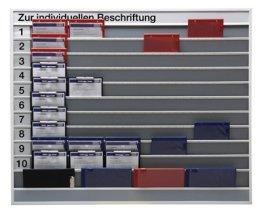 Planungstafel mit indiv. Beschiftungsmöglichkeit,1 0 Schienen, 1 Ablagefach, BxTxH 1575x78x1285 mm, -