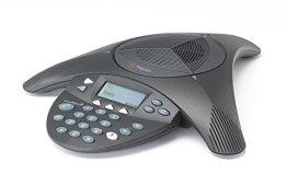 POLYCOM SoundStation 2 mit Display Konferenztelefon für analogen Anschluss (englischer Stecker) -