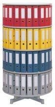 Reef Ordnerdrehsäule/R2081B5 H193 cm grau 5 Etagen Inh.120 Ordner -
