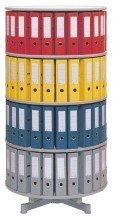 reef R2081BB4 Ordnersäule 81 cm durchmesser, 4 Etagen gesamtdrehbar, buche -