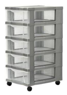Rollcontainer Schubladenschrank mit 5 Subladen -