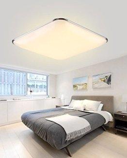 SAILUN 12W Warmweiß Ultraslim LED Deckenleuchte Modern Deckenlampe Flur Wohnzimmer Lampe Schlafzimmer Küche Energie Sparen Licht Wandleuchte Farbe Silber -