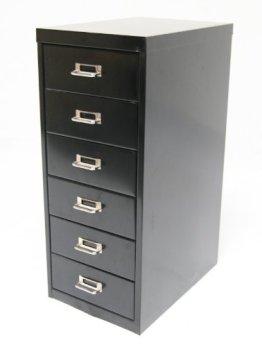 Schubladenschrank, 66x28x40cm, 6 Schubladen, schwarz, Marke: Szagato (Büroschrank, Werkzeugschrank, Werkstattschrank) -