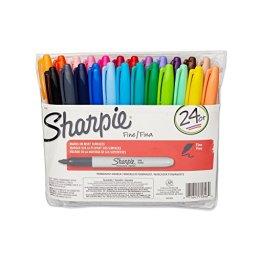 Sharpie Fine Point Permanent Markers 24/Pkg-Assorted Colors -
