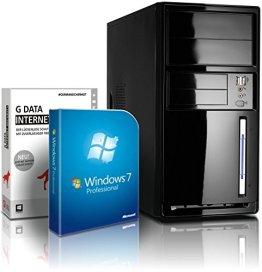 shinobee Flüster-PC Quad-Core Office/Multimedia PC Computer mit 3 Jahren Garantie! inkl. Windows7 Professional - INTEL Quad Core 4x2.41 GHz, 4GB RAM, 250GB HDD, Intel HD Graphics, HDMI, VGA, DVD±RW, Office, USB 3.0 #5047 -
