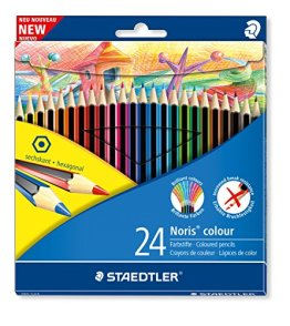 Staedtler 185 C24 - Noris Farbstiftetui mit 24 sortierten Farben -