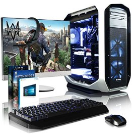 """VIBOX Divinity Gaming PC Computer Paket 6 - mit WarThunder Spiel Gutschein, 27"""" Monitor, Gamer Tastatur & Mouse, Windows 10 (3,5GHz Intel i7 Extreme Octa-Core CPU, Nvidia GTX 980 GPU, 64GB RAM, 240GB SSD, 3TB Festplatte, Corsair H100i GTX Wasserkühler) -"""