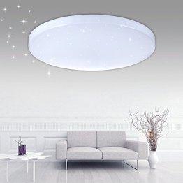 VINGO® 16W LED Sternenhimmel Deckenleuchte kaltweiß 6000-6500K Φ340*81mm 1600Lm Badezimmer Wohnraum Deckenbeleuchtung starlight Decklampe -