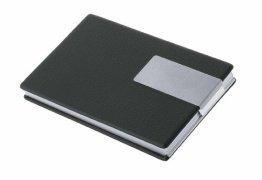 Wedo 2056601 Visitenkartenbox (Good Deal für Karten 90 x 57 mm) schwarz/silber -