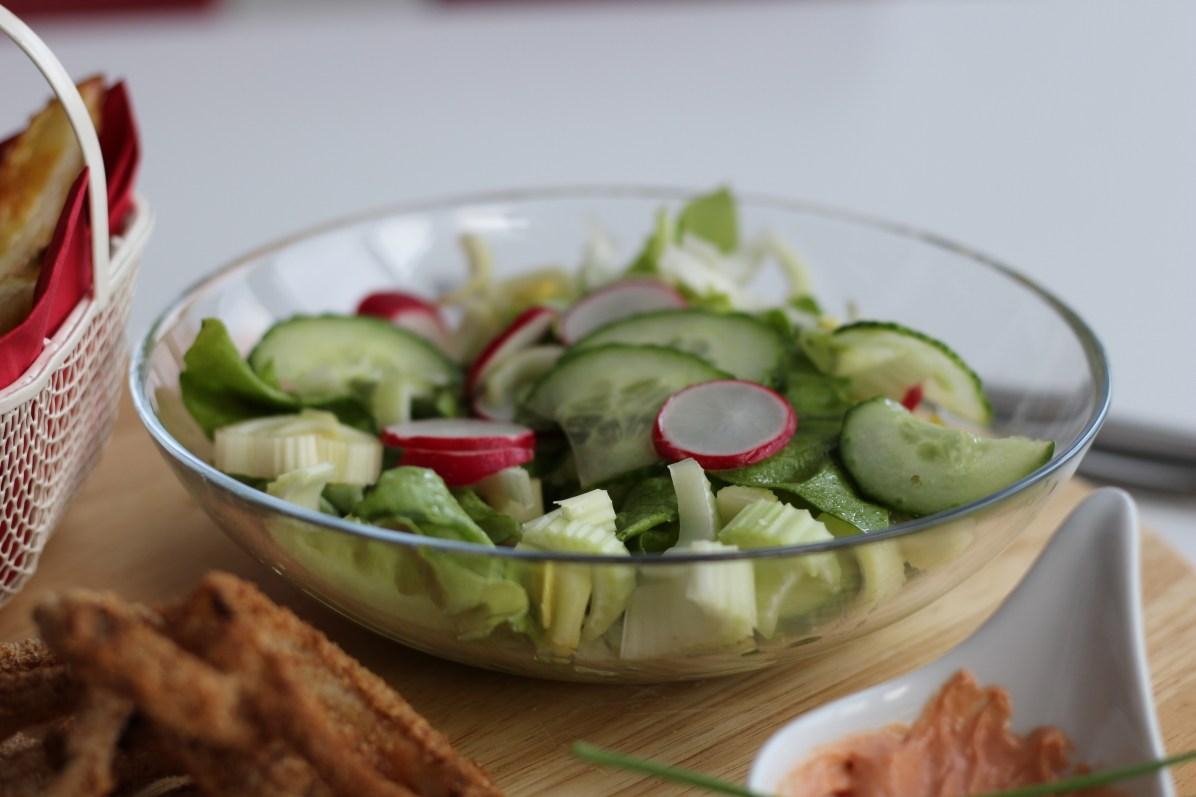 Veganer Salat Ritteressen