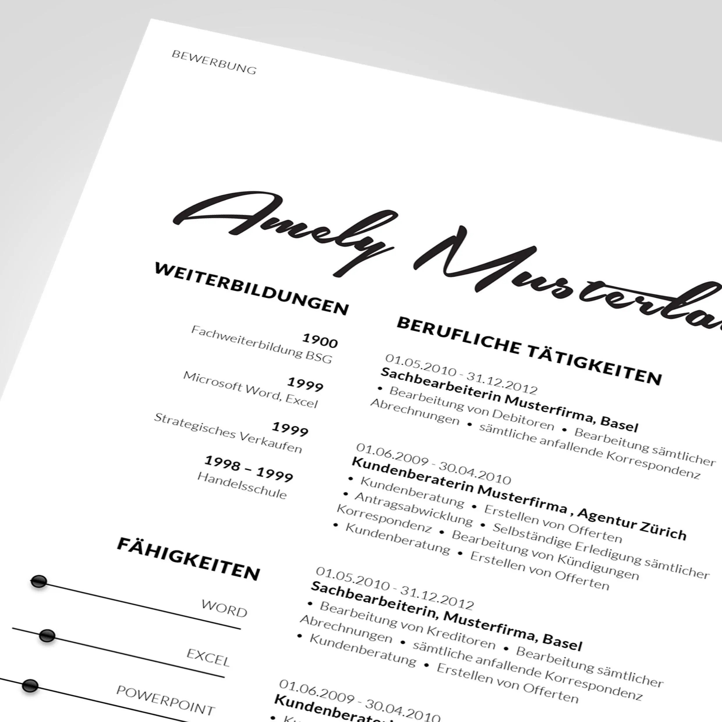 resume template 3 page cv template cover letter instant download for ...