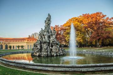 Schlossgarten Erlangen im Herbst