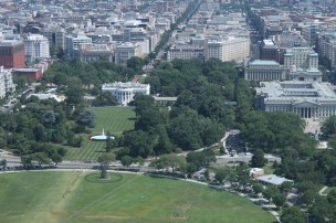 White House and Elipse taken from the top of the Washington Monument