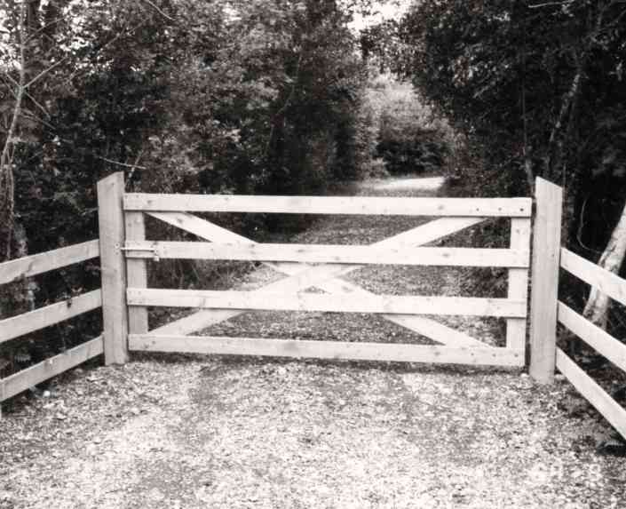 Entrance gates to Harvey's Point 1986 - Harvey's Point - Our Story