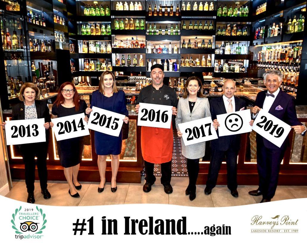 Tripadvisor number 1 hotel in Ireland Harvey's Point