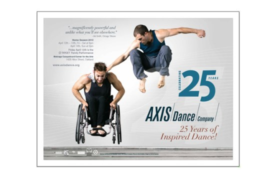 AXIS Dance Company 25th Anniversary shows BART poster