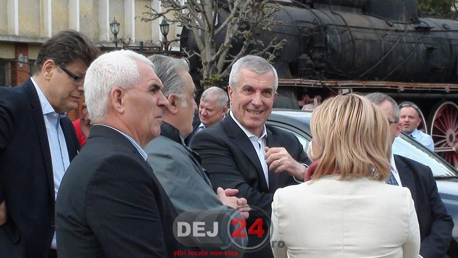 Calin Popescu Tariceanu la Muzeul de Locomotive Dej-Triaj (1)