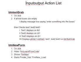 Inputoutput action list 1