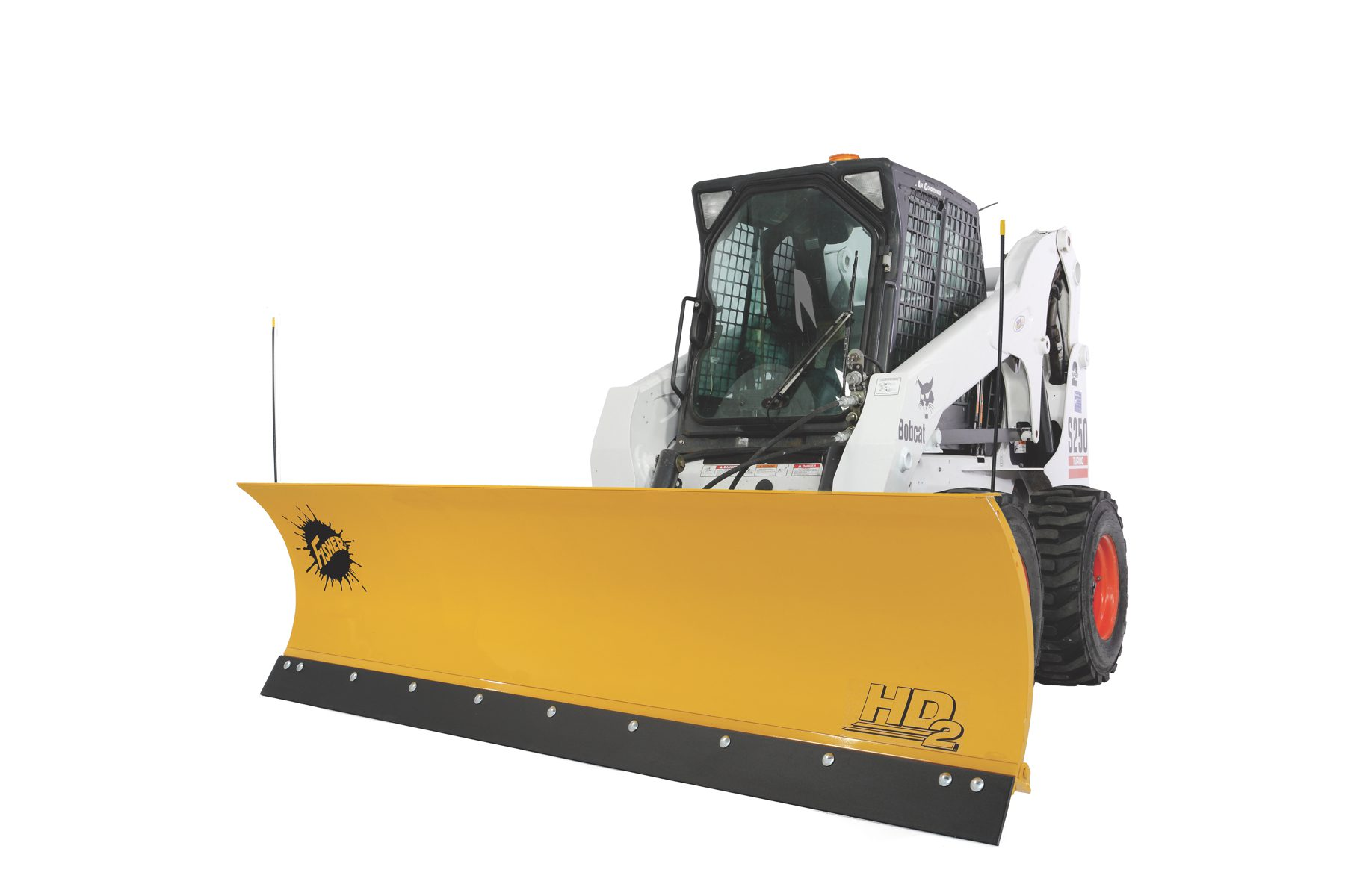 fisher plow dodge trailer hitch skid steer snow dejana truck and utility equipment