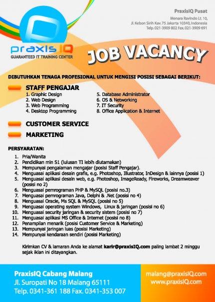 Contoh Job Vacancy Application Letter Dan Cv | Cover Letter on
