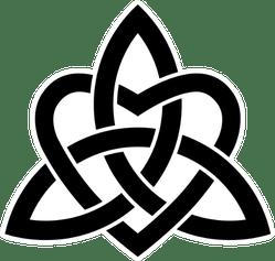 Celtic Knots Trinity With A Heart Sticker