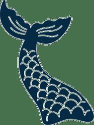 Mermaid Tail Svg : mermaid, Mermaid, Scales, Sticker