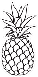Outline Of Tropical Pineapple Sticker