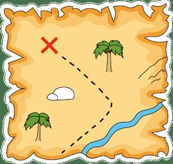 Pirate Treasure Map Sticker