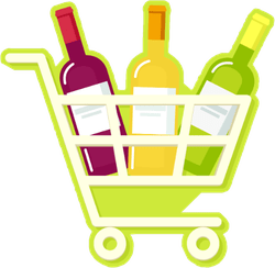 shopping wine cart sticker stickers