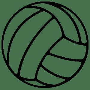 Volleyball Outline Sticker
