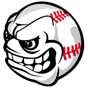 baseball with angry face