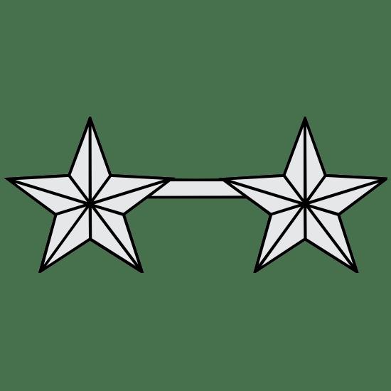 Army Rank O-8 Major General Magnet