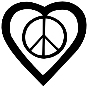 peace sign in a