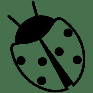 ladybug simple sticker vinyl stickers cut clipart