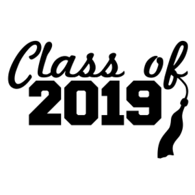 Class of 2019 Cursive Text and Tassel Sticker
