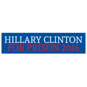 hillary clinton for prison