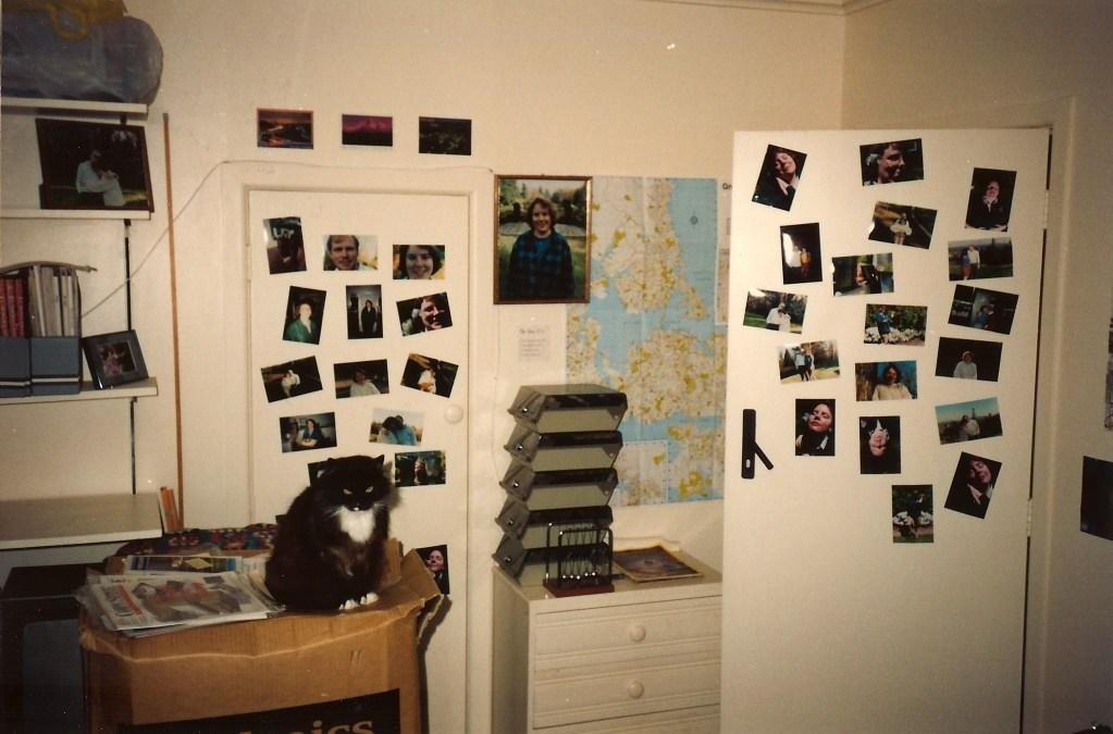 Photos on doors