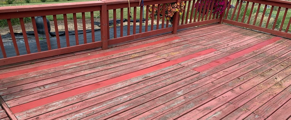 Replaced & stained deck boards