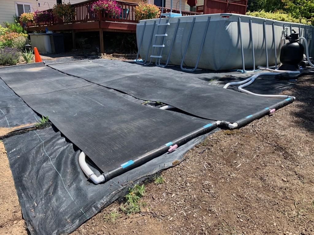 Swimming pool solar heaters