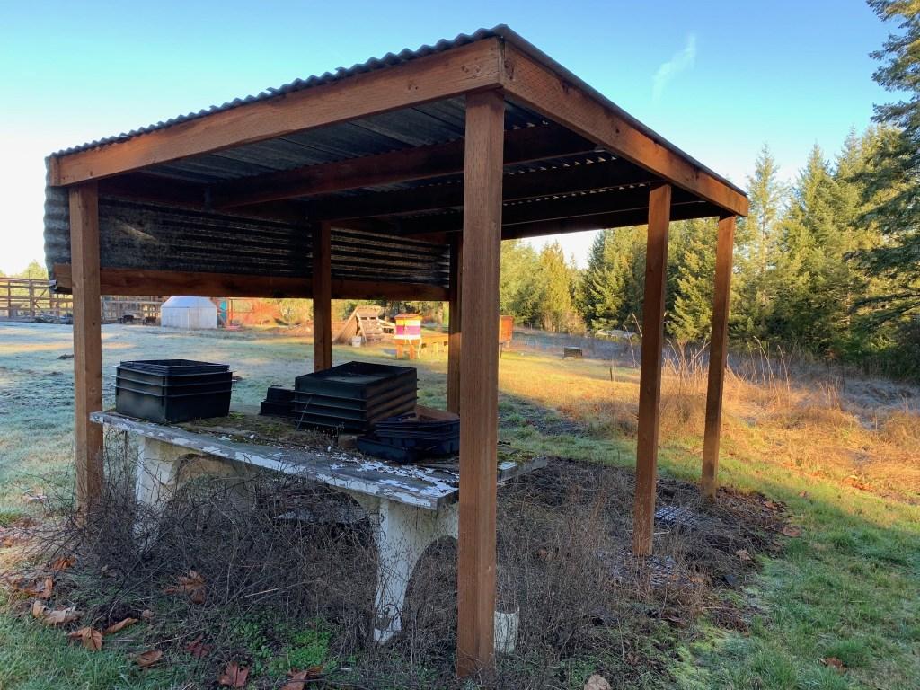 Potting shelter