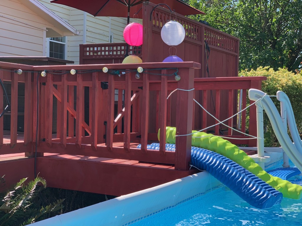 Pool deck extension