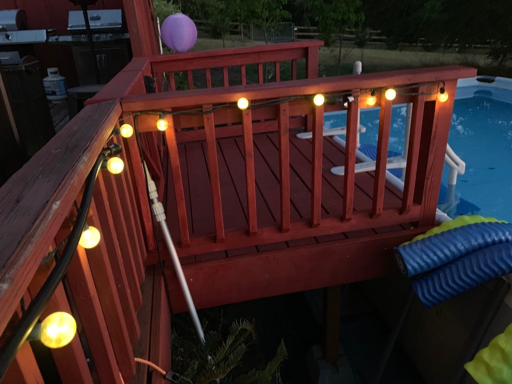 Pool extension lights