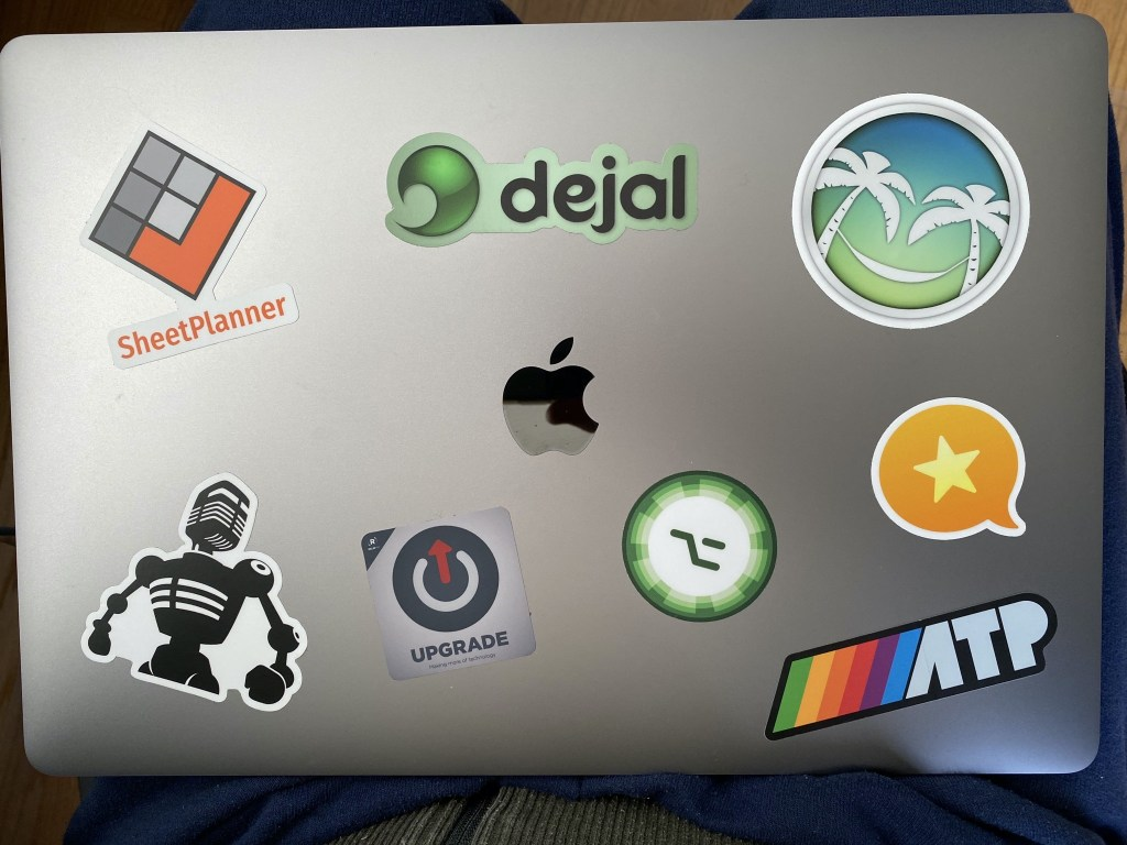 MacBook Pro 16 with stickers
