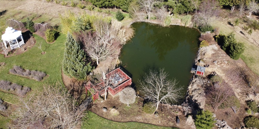 Aerial pic of pond