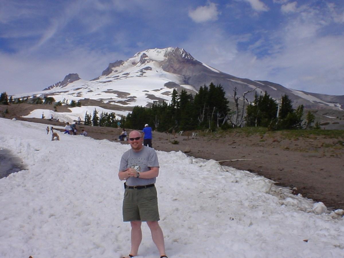 David in snow