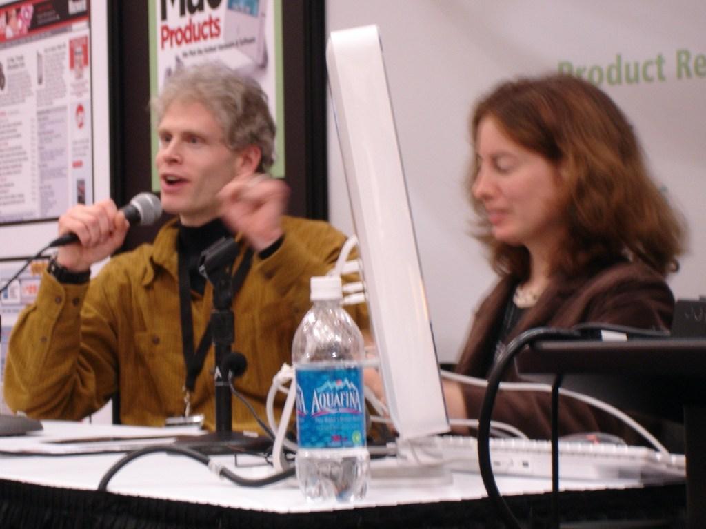 Adam and Tonya Engst at Macworld 2007